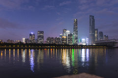 China Guangzhou city night Royalty Free Stock Photo