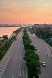 China Guangzhou City road Stock Photo