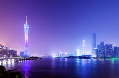 China Guangzhou Night Stock Image