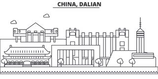 China, Guilin architecture line skyline illustration. Linear vector cityscape with famous landmarks, city sights, design Stock Photo