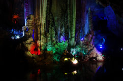 China Guilin caves,Silver Cave royalty free stock photography