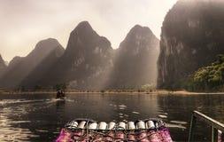 China Guilin Li River Cruise. China Guilin Li River (Lijiang) Cruise from Guilin to Yangshuo Stock Photo