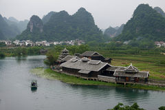 China Guilin river and mount scenery Royalty Free Stock Photos