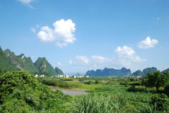 China Guilin scenery. Guilin, China, in the summer, the beautiful countryside Stock Photography
