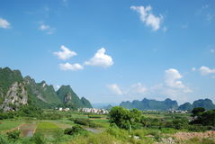 China Guilin scenery. Guilin, China, in the summer, the beautiful countryside Stock Photo