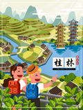 China Guilin travel poster Stock Photography