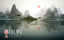 China Guilin travel poster Stock Photo