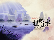 China Guilin travel Poster Royalty Free Stock Photography