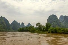 China, Guilin-Yangshuo; Río de Lee Imagen de archivo
