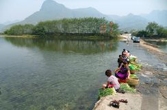 China, Guizhou, aldea original Fotografía de archivo