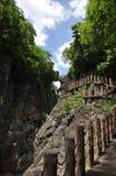 China guizhou anshun, star ferry bridge huangguoshu waterfall scenic area natural scenery Stock Photos