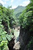 China guizhou anshun, star ferry bridge huangguoshu waterfall scenic area natural scenery Royalty Free Stock Photography