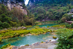 China Guizhou Huangguoshu scenic waterfall scenery. Eastphoto, tukuchina,  China Guizhou Huangguoshu scenic waterfall scenery Royalty Free Stock Photos