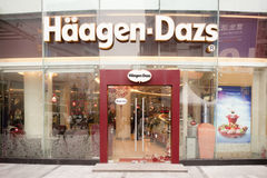 China: Haagen-Dazs. CHONGQING, CHINA - JAN 22: Haagen-Dazs in Chongqing on Jan 22, 2011. Haagen-Dazs ice cream is considered a luxury food in China, with one Royalty Free Stock Photography