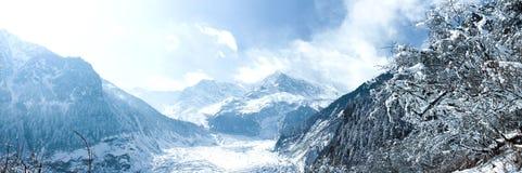 China Hailuogou Glacier. Hailuogou in Ganzi Tibetan Autonomous Prefecture, Sichuan Province, southeast of the eastern slope of Gongga, the eastern edge of the Royalty Free Stock Image