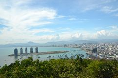 China Hainan island, city of Sanya Stock Photography