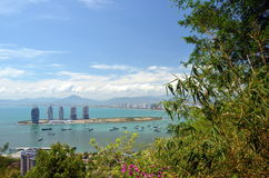 China Hainan island, city of Sanya Stock Photos