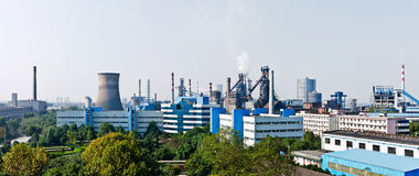 China Hangzhou Iron and Steel Plant Royalty Free Stock Image