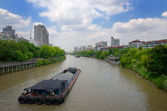 China Hangzhou Peking Hangzhou Grande Canale Royalty-vrije Stock Foto