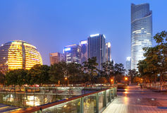 China Hangzhou skyscrapers Stock Photo