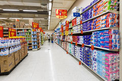 China hangzhou wal-mart  supermarket retail  goods Royalty Free Stock Photos