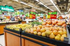 China hangzhou wal-mart  supermarket retail  goods Stock Photos
