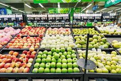 China hangzhou wal-mart supermarket  retail items fruit Stock Images