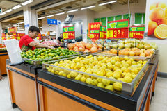 China hangzhou wal-mart supermarket  retail items Royalty Free Stock Photography