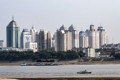 China Harbin City Building, The Songhua River Side. Royalty Free Stock Photo