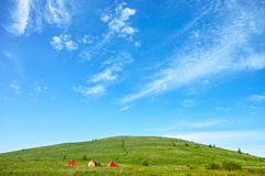 China Hebei Heilongshan Meadow footing Landscape Royalty Free Stock Photo