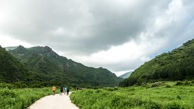 China Hebei Heilongshan Meadow footing Landscape Royalty Free Stock Image