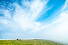 China Hebei Heilongshan Meadow footing Landscape Stock Photography