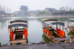 China Henan tourist attractions Kaifeng Qingming River park. Royalty Free Stock Images