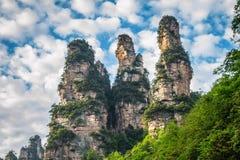 China, het Nationale Park van Zhangjiajie royalty-vrije stock afbeeldingen
