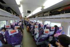 China high-speed emu train inside Stock Photography