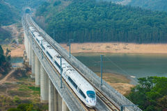 China High Speed Train. High-speed Train travel in China royalty free stock image