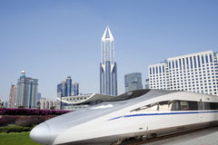 China high speed train at Shanghai Stock Photo