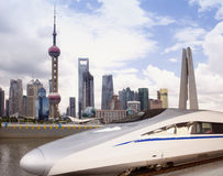 China high speed train at Shanghai Stock Image