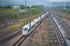 China High Speed train. This is China High Speed train in shenzhen royalty free stock images