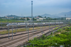 China High Speed train. This is China High Speed train in shenzhen royalty free stock photo