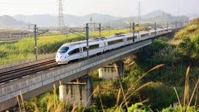 China-Hochgeschwindigkeitsschiene stockbild