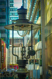 China, Hong Kong antique gas lamp in Duddell street Stock Images