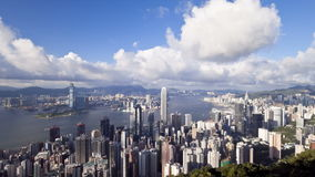 China hong kong business district with bank of china tower international stock footage