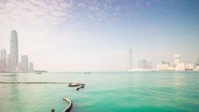 Hong kong island sunny day bay bridge panorama 4k time lapse china. China hong kong city island sunny day bay bridge panorama 4k time lapse stock video footage