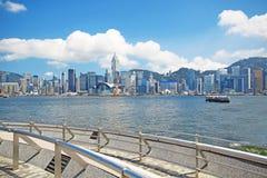 China, Hong Kong waterfront buildings Royalty Free Stock Photo