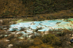 China Huanglong calcification pool of sichuan Stock Image