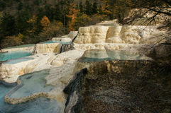 China Huanglong calcification pool of sichuan Royalty Free Stock Photo