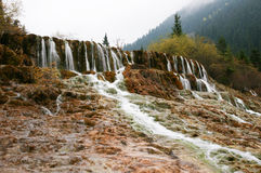 China Huanglong calcification pool of sichuan Royalty Free Stock Photos