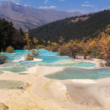 China Huanglong landforms Royalty Free Stock Photos