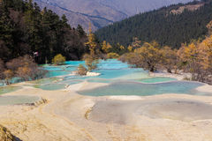 China Huanglong landforms Royalty Free Stock Images